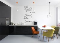 Decor Kafe Decal Style Kitchen Is The Heart Art Small Size-17*24 Inch Wall Sticker Sticker (Pack Of 1)