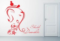 Decor Kafe Decal Style Shubh Diwali Art Small Size-18*17 Inch Wall Sticker Sticker (Pack Of 1)