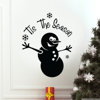 Decor Kafe Decal Style Tis The Season Small Size-12*15 Inch Color - Black Vinyl Film Sticker (Pack Of 1)
