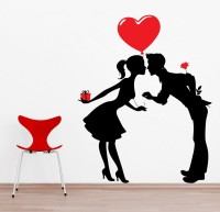 Decor Kafe Decal Style Love Buds Lagre Size-21*26 Inch Vinyl Film Sticker (Pack Of 1)