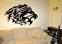 Decor Kafe Decal Style Lion Small Size-27*17 Inch Vinyl Film Sticker (Pack Of 1)