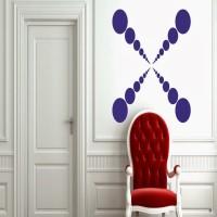 DeStudio Rapid Dot One Color (Blue) Size (90cms X 60 Cms) Wall Sticker