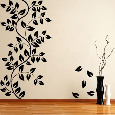 Decor Kafe Floral Self Adhesive Wall Decal Large Size-37*38 Inch Wall Sticker Sticker (Pack Of 1)