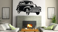 Decor Kafe Decal Style Vintage Car Small Size-30*17 Inch Vinyl Film Sticker (Pack Of 1)