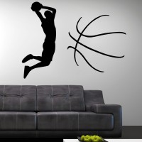 Decor Kafe Decal Style Man On Football Large Size-42*31 Inch Vinyl Film Sticker (Pack Of 1)