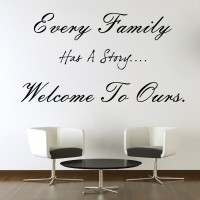 Decor Kafe Decal Style Every Family Art Small Size-21*11 Inch Wall Sticker Sticker (Pack Of 1)