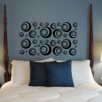 Studio Briana Black Designer Swirls For Large Area Decor Wall Decal Sticker (Pack Of 1)