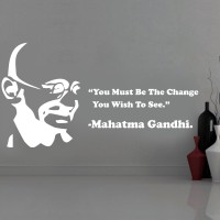 Creative Width Decor Mahatma Gandhi Vinyl Sticker Sticker (Pack Of 1)