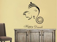 Decor Kafe Decal Style Happy Diwali Art Small Size-16*21 Inch Wall Sticker Sticker (Pack Of 1)