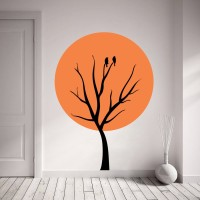 Decor Kafe Decal Style Bird On Tree Small Size-20*28 Inch Vinyl Film Sticker (Pack Of 1)