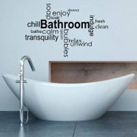 Decor Kafe Bathroom Wall Decal Small Size-18 X 11 Inch Black Vinyl Film Sticker (Pack Of 1)
