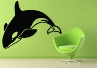 Decor Kafe Decal Style Fish Medium Size-35*27 Inch Vinyl Film Sticker (Pack Of 1)