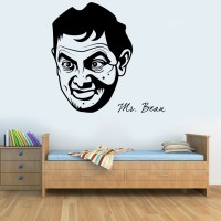 Decor Kafe Mr.Bean Self Adhesive Wall Decal Large Size-32*31 Inch Wall Sticker Sticker (Pack Of 1)