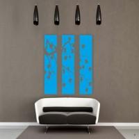DeStudio Cherry Blossom Panel Color (Blue) Size (150cms X 60 Cms) Wall Sticker