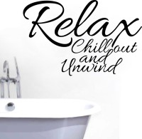 Decor Kafe Relax Chill Out Wall Decal Small Size-16 X 10 Inch Black Vinyl Film Sticker (Pack Of 1)