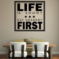 Decor Kafe Decal Style Life First Wall Art Large Size- 22* 22 Inch Color - Black Wall Sticker (Pack Of 1)