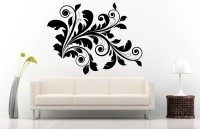 Decor Kafe Decal Style Floral Wall Decor Sticker Medium Size-34*26 Inch Vinyl Film Sticker (Pack Of 1)