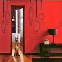 DeStudio Paper Lamps Color (Black) Size (150cms X 60 Cms) Wall Sticker