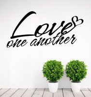 Decor Kafe Decal Style Love One Another Art Large Size- 32*15 Inch Wall Sticker Sticker (Pack Of 1)