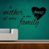 Decor Kafe Decal Style Mother Is The Heart Art Small Size- 19*09 Inch Wall Sticker Sticker (Pack Of 1)