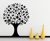 Decor Kafe Creative Tree Self Adhesive Wall Decal Medium Size-28*35 Inch Wall Sticker Sticker (Pack Of 1)