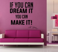 Decor Kafe Decal Style Dream Make It Art Tiny Size-16*15 Inch Wall Sticker Sticker (Pack Of 1)