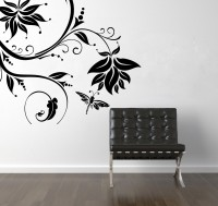 Decor Kafe Decal Style Creative ButterFly Branch Small Size-23*21 Inch Vinyl Film Sticker (Pack Of 1)