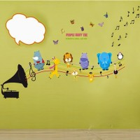 SYGA Music With Butterfly Wall Pvc Vinyle Sticker (Pack Of 1)