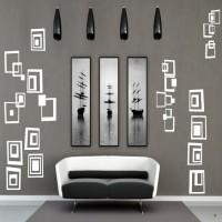 DeStudio Cool Cubes Color (White) Size (150cms X 60 Cms) Wall Sticker