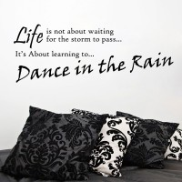 Decor Kafe Dance In The Rain Self Adhesive Wall Decal Large Size-40*14 Inch Wall Sticker Sticker (Pack Of 1)