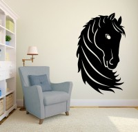 Decor Kafe Decal Style Horse Head Small Size-16*28 Inch Vinyl Film Sticker (Pack Of 1)