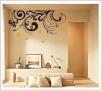 Oren Empower Wall Mural Art Black Wall Sticker (75 Cm X Cm 106, Orange, Black)