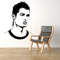 Decor Kafe Decal Style Ronaldo Small Size- 20*26 Inch Vinyl Film Sticker (Pack Of 1)