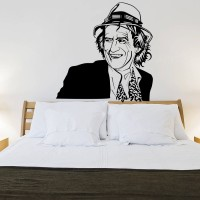 Decor Kafe Decal Style Keith Richards Medium Size-31*31 Inch Vinyl Film Sticker (Pack Of 1)