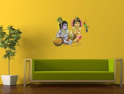 10 Off On Walldesign Krishna Balaram Wall Painting Multi Colour Pvc Sticker On Flipkart Paisawapas Com