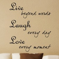 Decor Kafe Decal Style Live Laugh Love Art Large Size-34*40 Inch Wall Sticker Sticker (Pack Of 1)