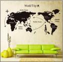 SYGA Uberlyfe Diy World Trip Map Wall PVC Vinyl Sticker
