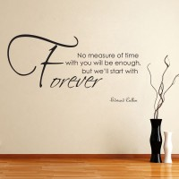 Decor Kafe Decal Style Forever Wall Medium Size-28*15 Inch Vinyl Film Sticker (Pack Of 1)