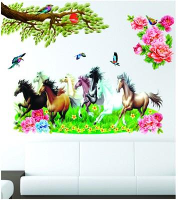 pindia 3d running horses design wall sticker for rs. 314 at flipkart