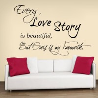 Decor Kafe Decal Style Love Story Art Small Size-23*15 Inch Wall Sticker Sticker (Pack Of 1)