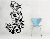 Decor Kafe Decal Style Creative Rose Art Tiny Size-12*20 Inch Wall Sticker Sticker (Pack Of 1)