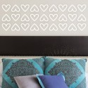 DeStudio Hearts Border Fun Decor Decoration Bed Decal Wall Sticker Sticker