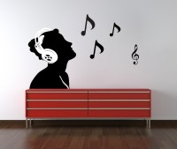 Decor Kafe Decal Style Musical Men Wall Small Size-21*14 Inch Vinyl Film Sticker (Pack Of 1)