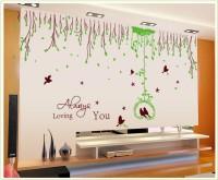 Oren Empower Super Grass Ring Feiyan Waist Flower Vine Wall Stickers (125 Cm X Cm 255, Green, Brown)