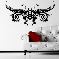 Decor Kafe Decal Style Tribal Shaped Art Small Size- 20*10 Inch Wall Sticker Sticker (Pack Of 1)