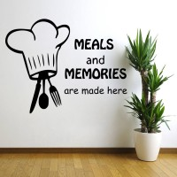 Decor Kafe Decal Style Meals And Memories Wall Art Large Size- 27* 20 Inch Color - Black Wall Sticker (Pack Of 1)