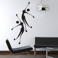 Decor Kafe Decal Style Girls Jumping Art Small Size-15*28 Inch Wall Sticker Sticker (Pack Of 1)