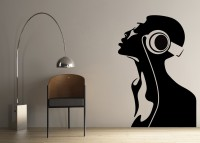 Decor Kafe Decal Style Women Singing Art Small Size-16*23 Inch Wall Sticker Sticker (Pack Of 1)