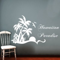 Creative Width Decor Hawaiian Paradise Vinyl Sticker Sticker (Pack Of 1)