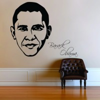 Decor Kafe Decal Style Barack Obama Wall Small Size-21*17 Inch Vinyl Film Sticker (Pack Of 1)